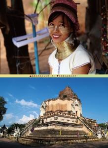 150期封面裡/泰國長頸族美女回眸一笑 清邁舊城古廟大塔寺