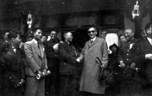 028 民國三十七年四月二十九日國民大會副總統競選第四日吳鐵城(右二)。