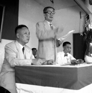 071 民國四十一年五月四日華僑協會總會會員大會理事長吳鐵城致開會詞1